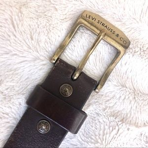 Levi's Accessories - Levi's Belt Gold Buckle Brown Leather M